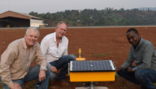Rwanda Kamembe Airport - solar runway lights